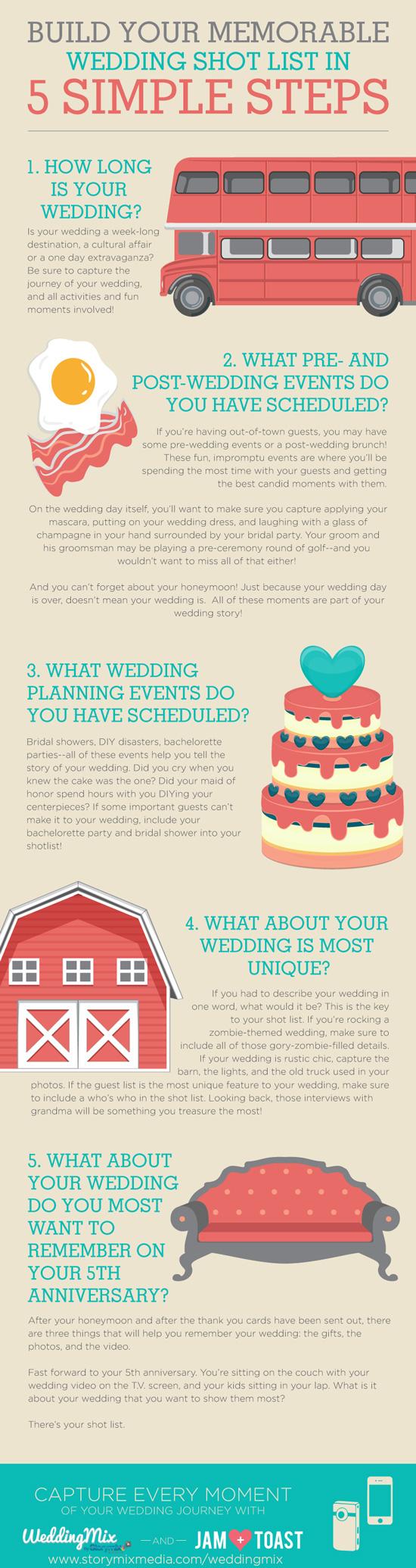 wedding shot list inspiration