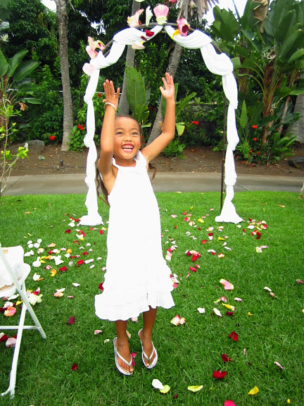 hawaii flower girl ideas