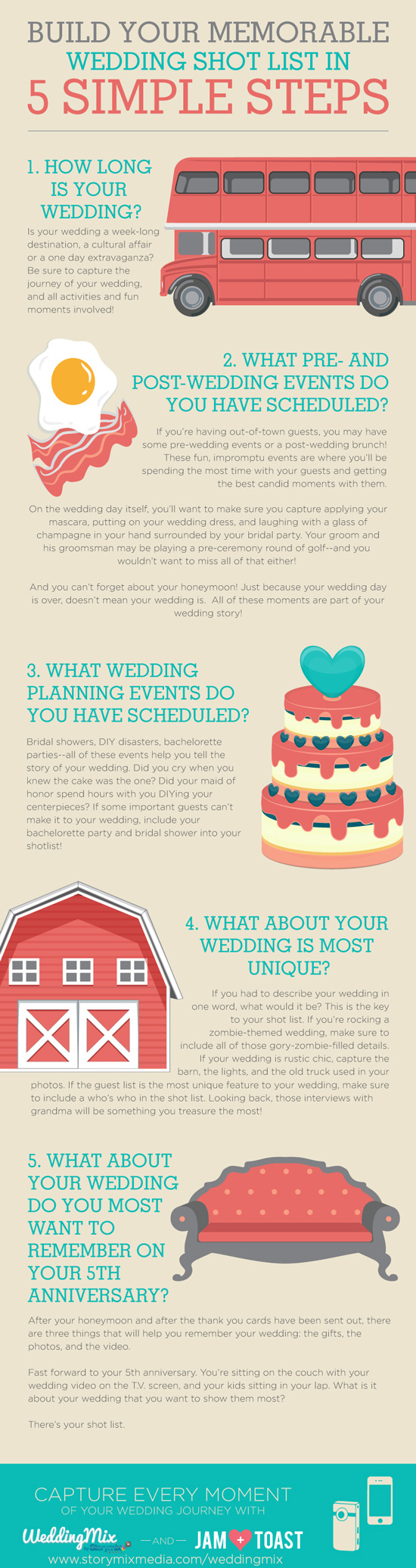 5 totally clever ideas for a unique wedding shot list