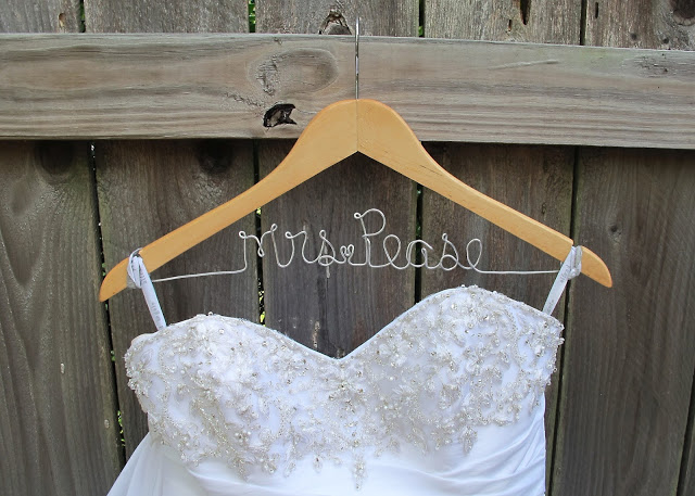 diy wedding ideas hanger