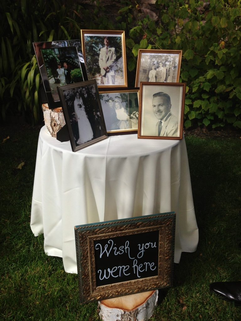 wedding memory table ideas
