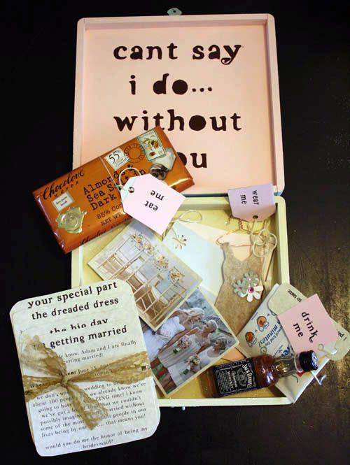 personalized bridesmaids gift box