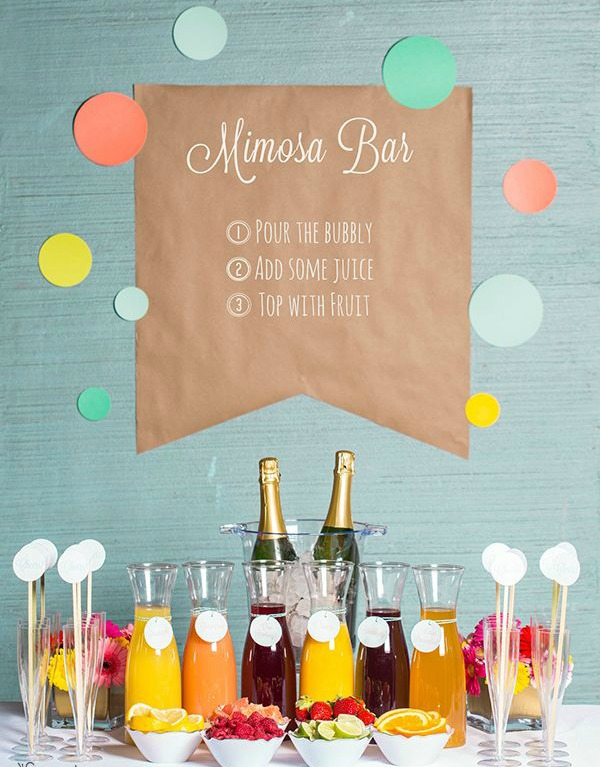 mimosa bar engagement party themes