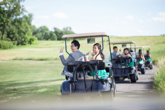 bride groom golf cart
