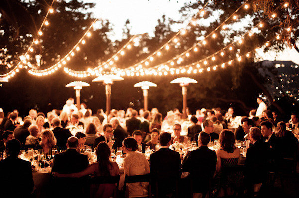 rustic wedding light ideas