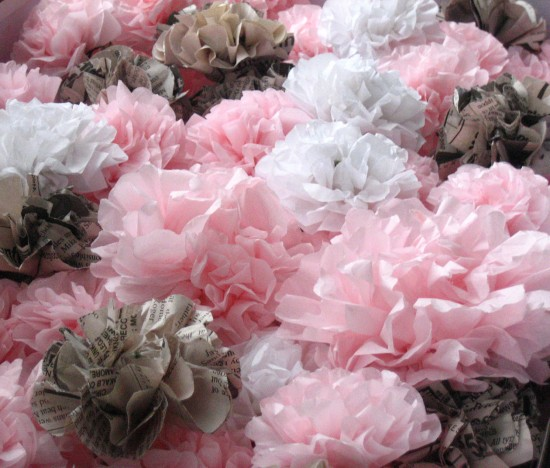 10 diy wedding ideas guarenteed to impress your guests diy wedding ideas tissue paper flower junglespirit Image collections