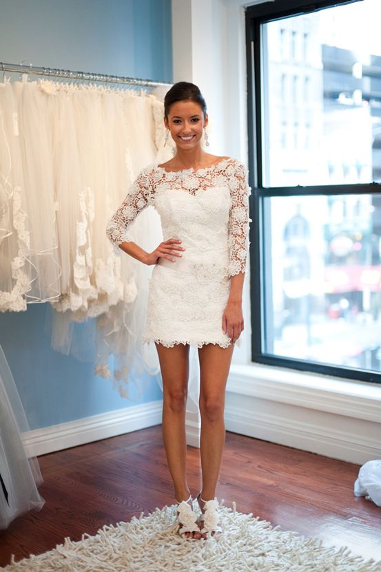 wedding rehearsal lace dress