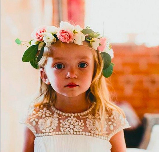 flowergirl flower crown diy how to