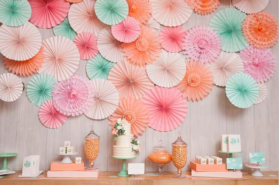 diy wedding ideas paper fans
