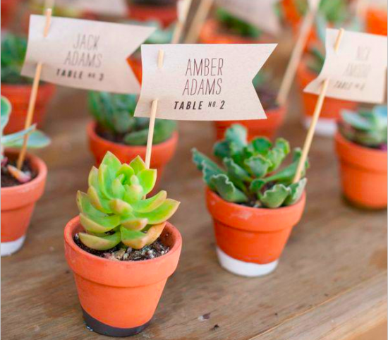 diy wedding table numbers favors