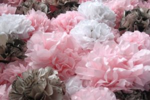 diy wedding ideas tissue paper flower