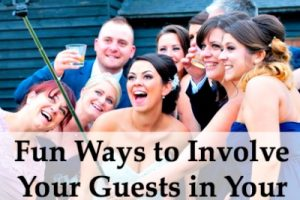 fun ways to involve guests in wedding photos