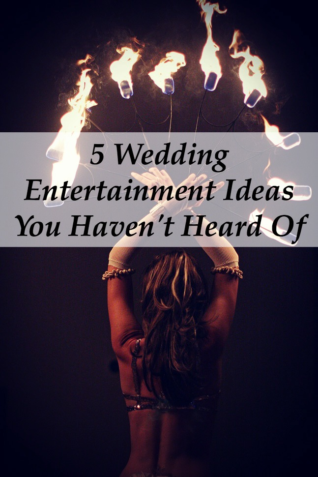 5 wedding entertainment ideas you haven 39 t heard of yet