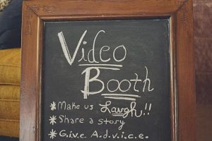 wedding photo video booth