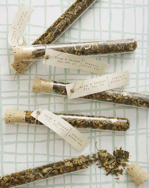 Tea Test Tubes Wedding Favors