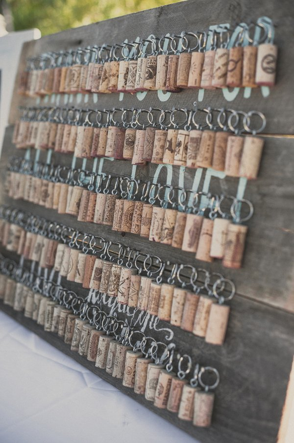 Wine Cork Keychain Wedding Favors