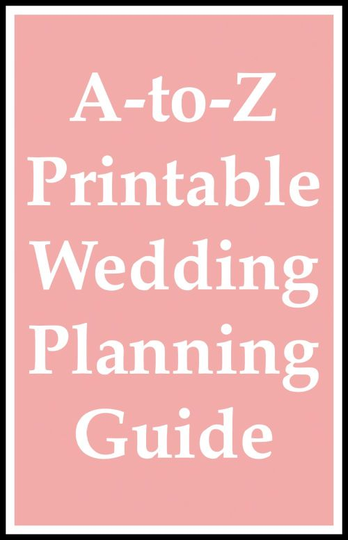 wedding planning guide list