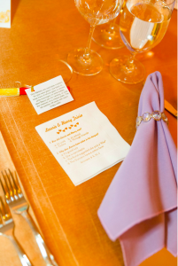 trivia napkins wedding
