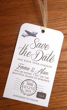 Destination Wedding Save The Date