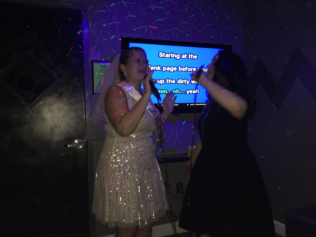bachelorette party karaoke videography