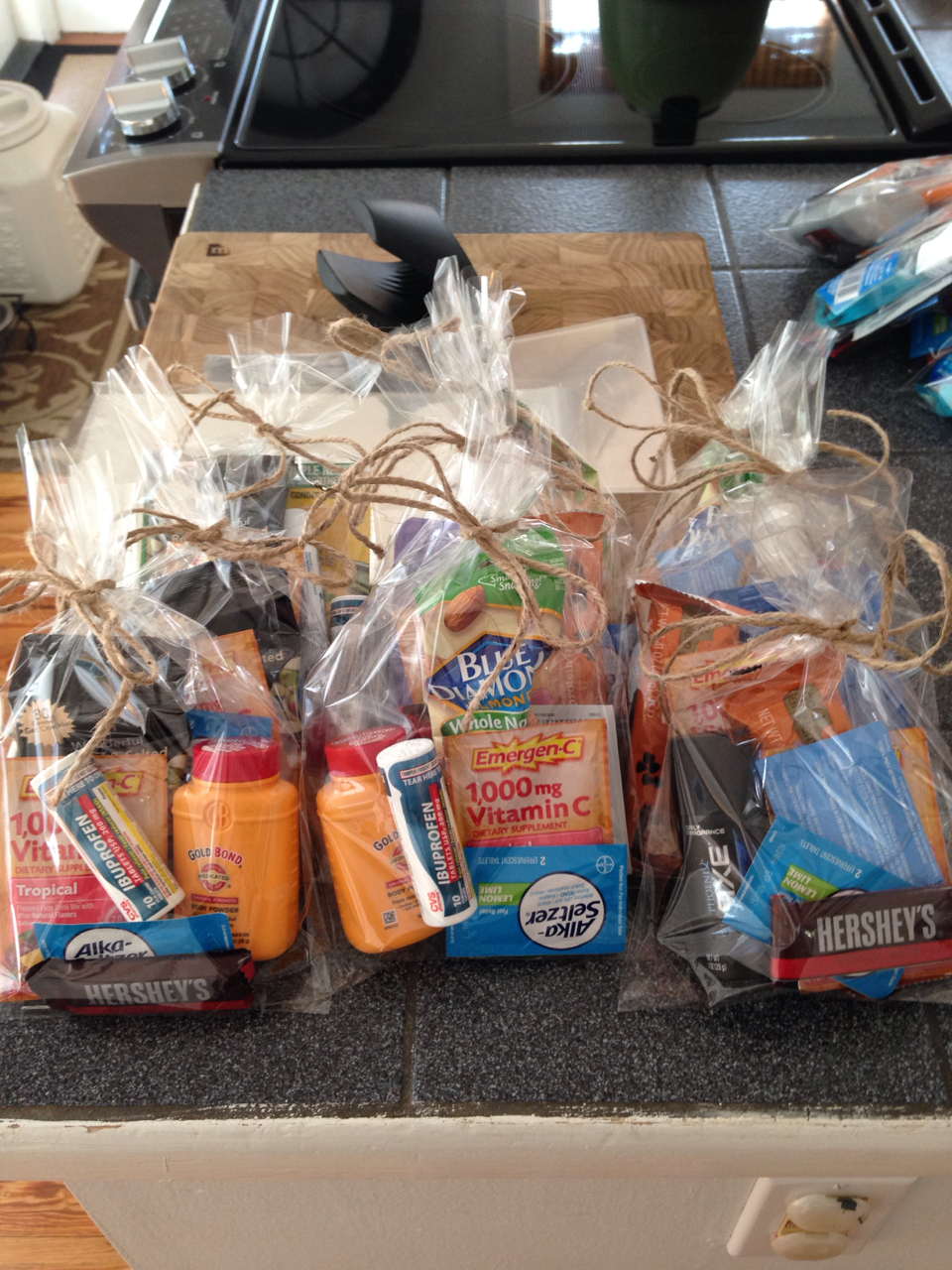 Bachelor party emergency bags diy