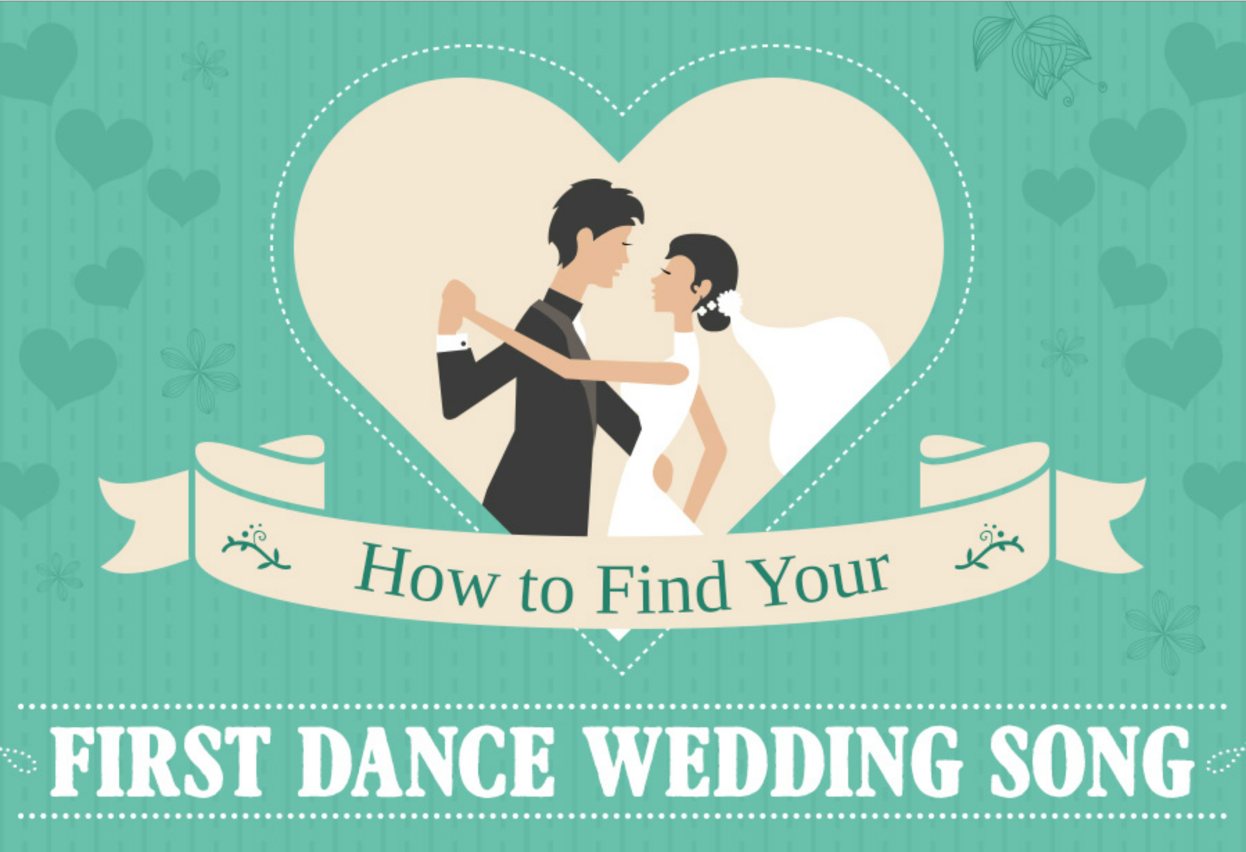 wedding first dance song infographic