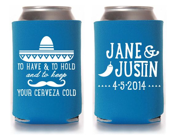 beer coozie wedding favor