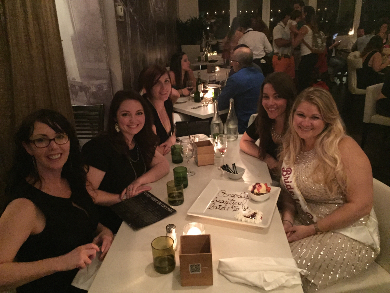bachelorette party dinner