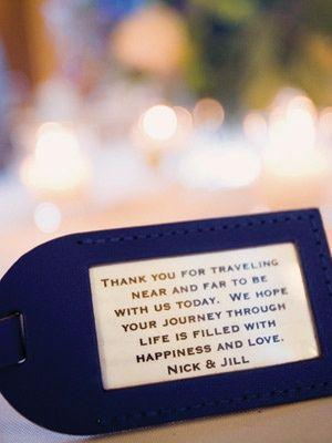 luggage tag wedding favor