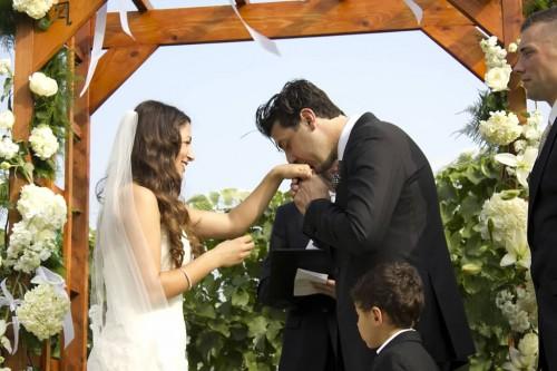 sweet september wedding moment
