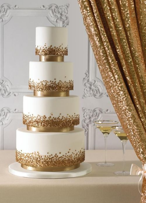 Glitter wedding cake ideas