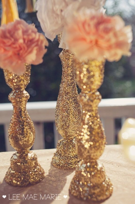 Glitter wedding ideas themes