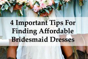 affordable bridesmaid dress tips