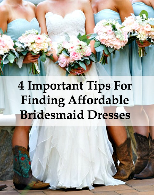 4 Important Tips for Finding Affordable Bridesmaid Dresses ...