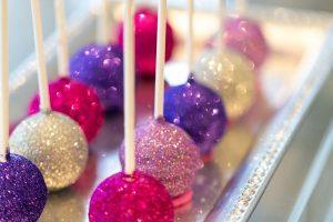 glitter cake pop wedding idea
