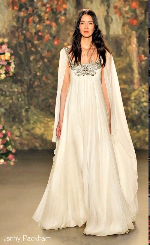 6 most elegant wedding dress styles for 2016 weddingmix blog for Wedding dress with a cape