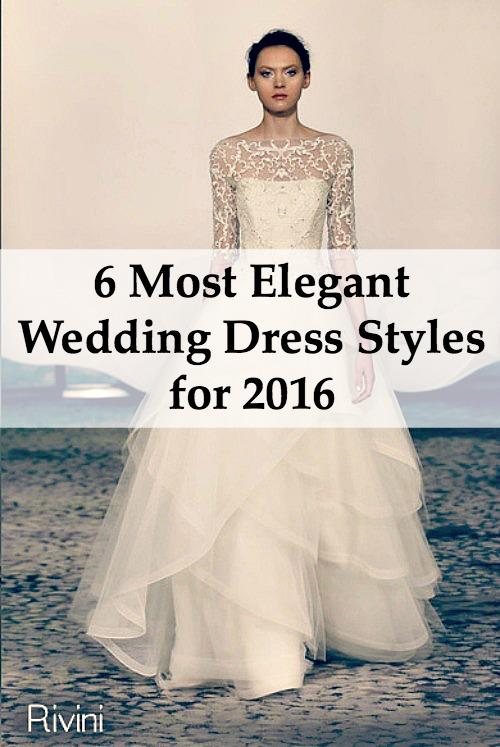 Elegant Wedding Dress Styles