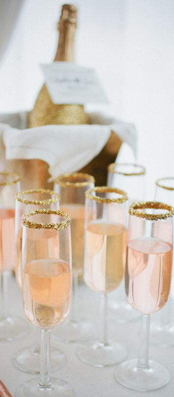 gold Glitter themed wedding ideas