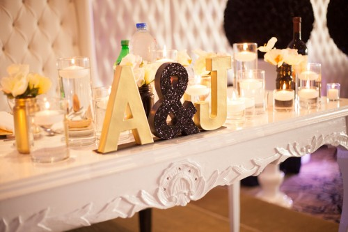 Ideas table decorations Glitter Theme wedding