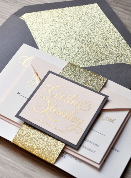 Glitter Wedding DIY ideas