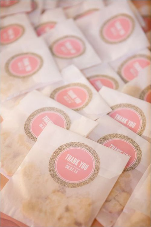 affordable wedding favor cookie glitter real ideas