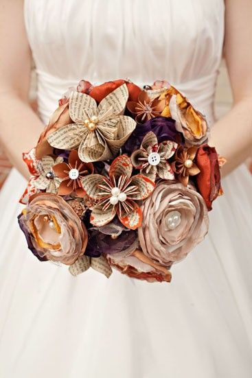 DIY wedding bouquet paper