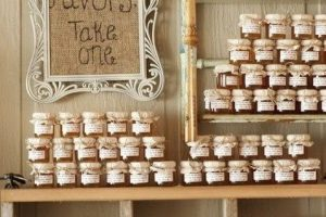 affordable wedding ideas from real brides jam DIY wedding Favors