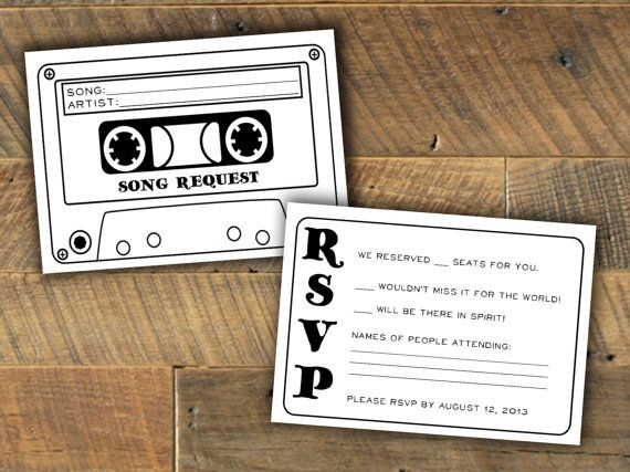 wedding ideas 2016 song request rsvp