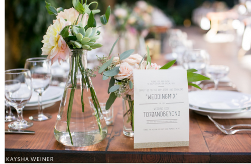 wedding at the millwick table card