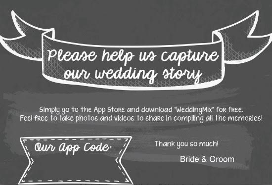 Black and white table card ideas