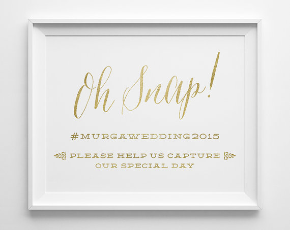 instagram wedding table cards idea hashtag
