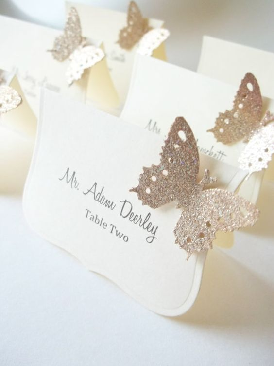 butterfly table wedding card ideas
