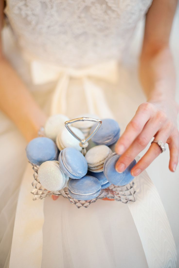 Blue macaroon wedding dessert pantone color of the year ideas