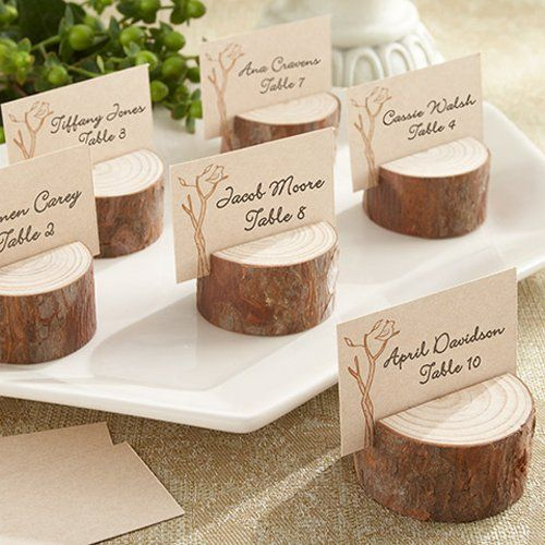 Rustic wedding table card ideas holders